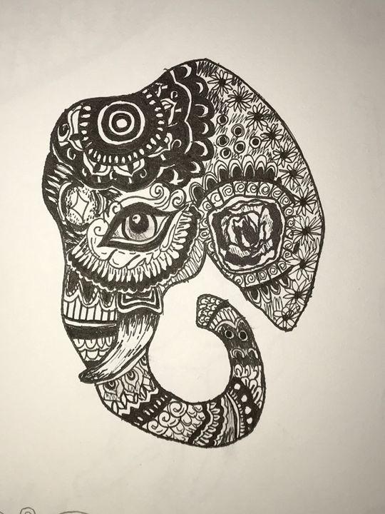 India the Elephant - Art By Maya