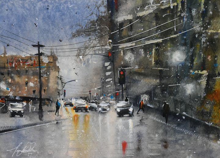 Imagined Wet Scene - Tony White Watercolour