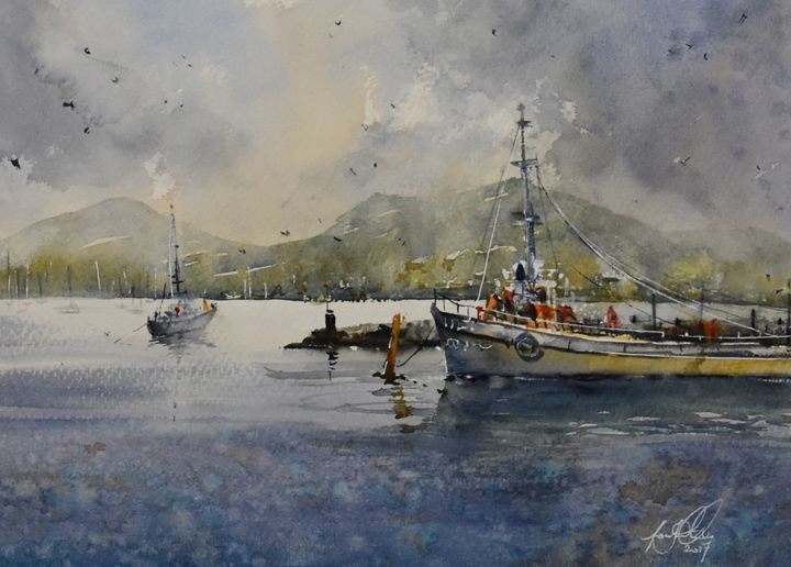Franklin, Tasmania. - Tony White Watercolour