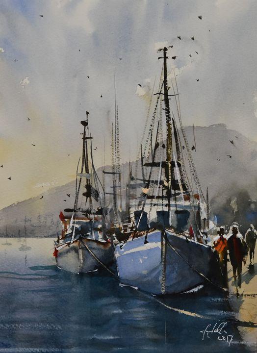 Somewhere in Tasmania - Tony White Watercolour