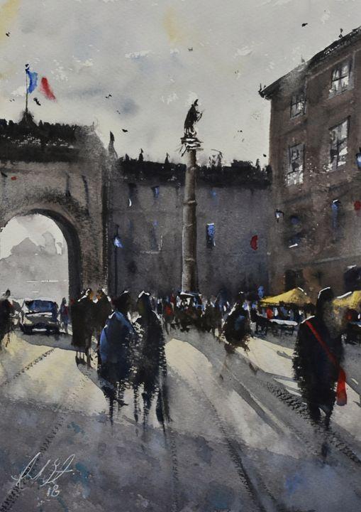 French  Market - Tony White Watercolour