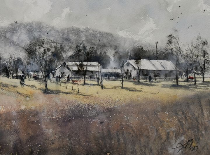 A Place to Call Home - Tony White Watercolour