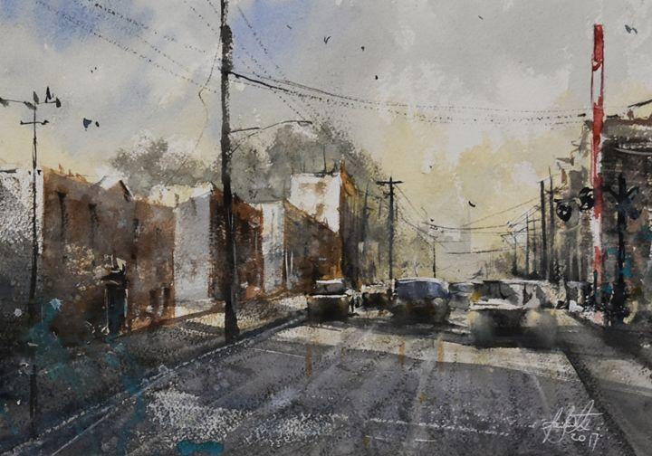 Crossing - Tony White Watercolour