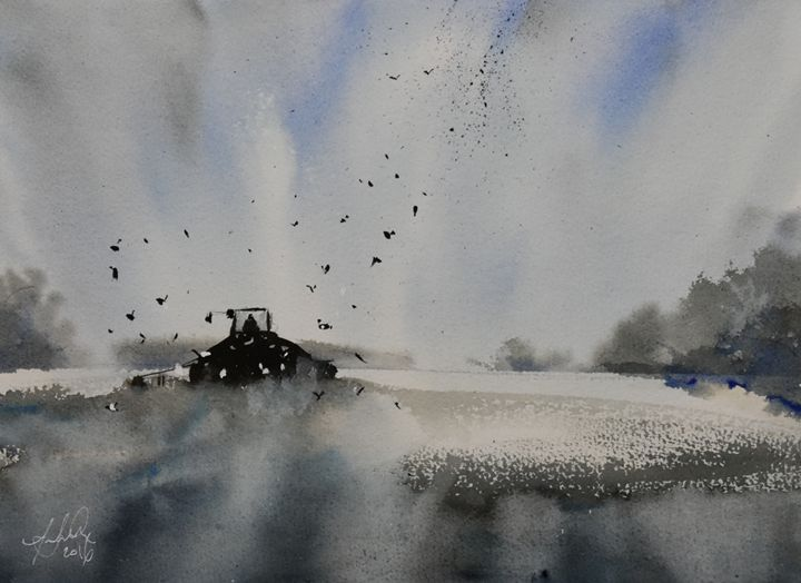 Cool Harvest - Tony White Watercolour