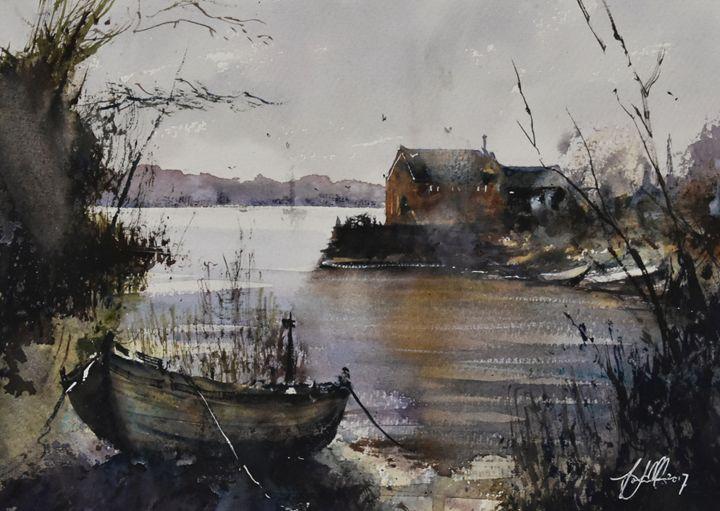 The Boathouse - Tony White Watercolour