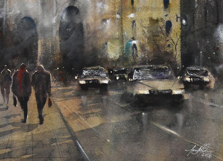 Strolling - Tony White Watercolour