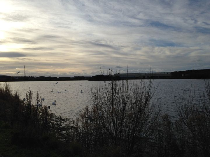 Clouds over reservoir - Michelle Gardiner