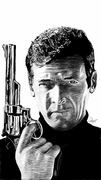 James Bond 007 - Roger Moore - dlay.net - Digital Sketches