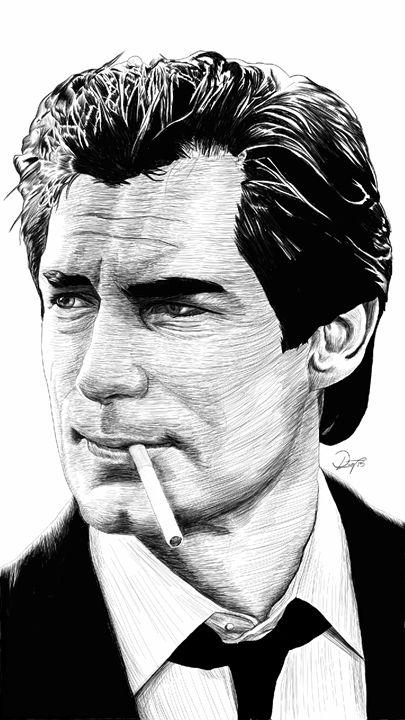 James Bond 007 - Timothy Dalton - dlay.net - Digital Sketches