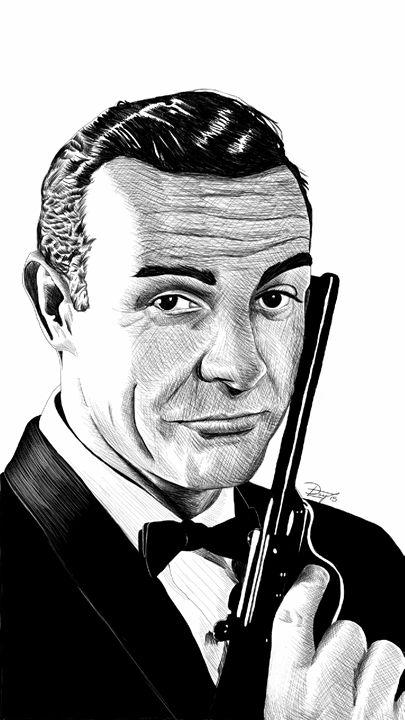 James Bond - Sean Connery - dlay.net - Digital Sketches