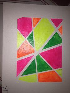 Neon painting