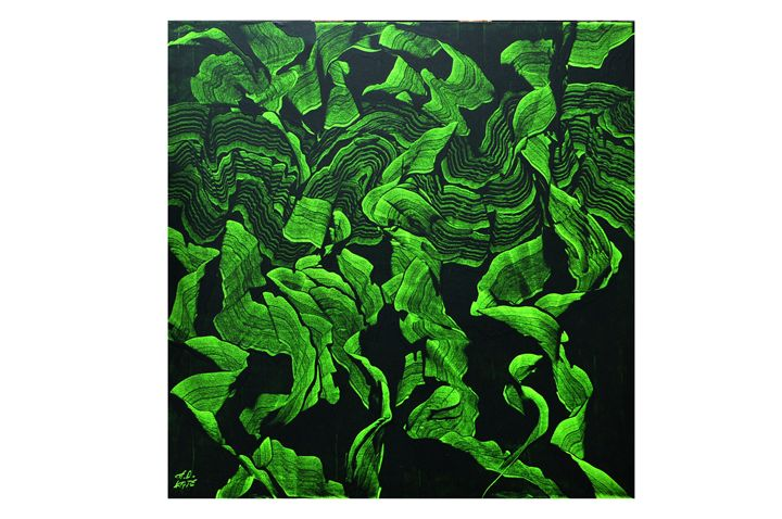 GREEN FORMS IN RHYTHM - appasaheb art