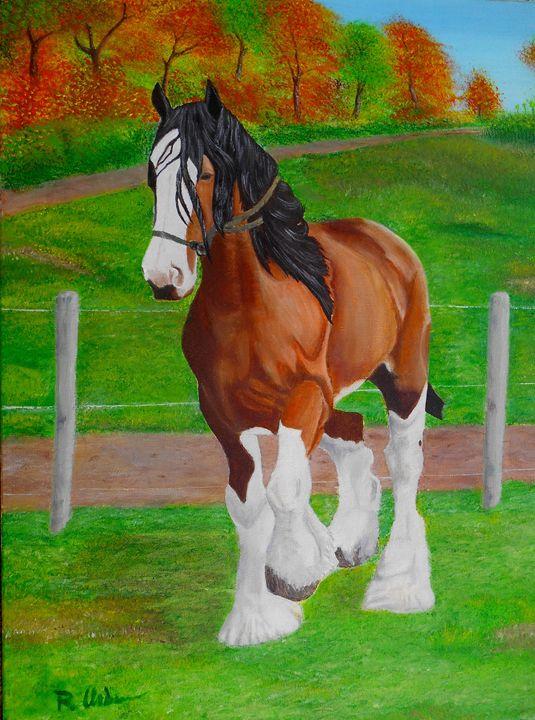 Horse In The Field - Ray Urbina