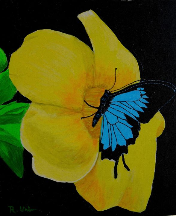 Flower n butterfly - Ray Urbina