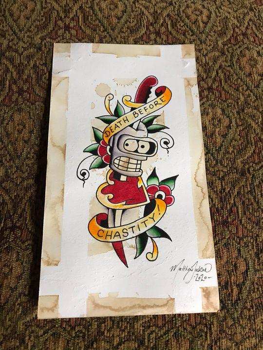 'Death before Bender' - Art by Matthew Jackson