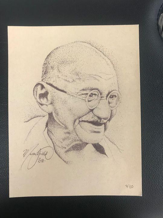 Ghandi Dots (print) - Art by Matthew Jackson
