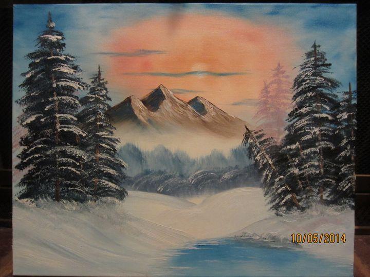 Winter Pond - Cai's Landscape Collection