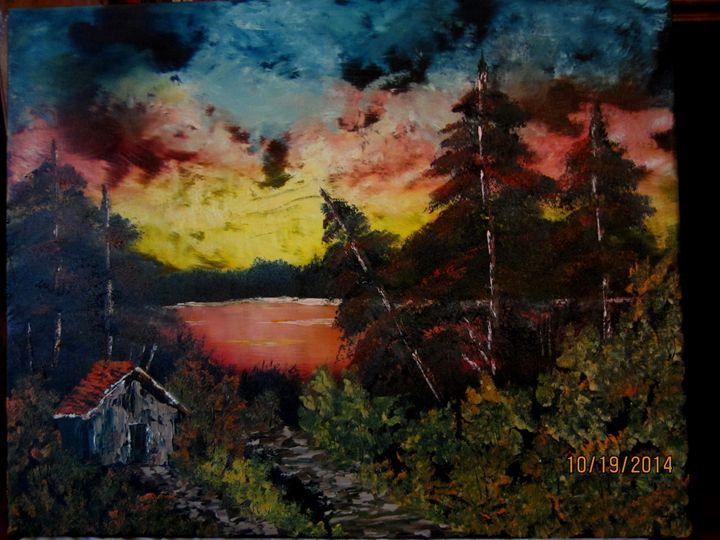 Cabin in the Sunset - Cai's Landscape Collection