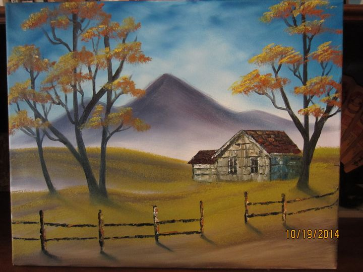 Cabin by the Road - Cai's Landscape Collection