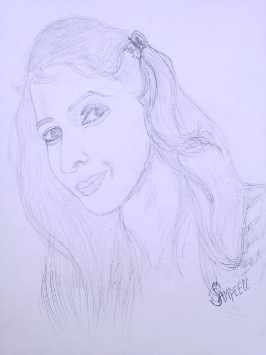A beautiful girl - sketch