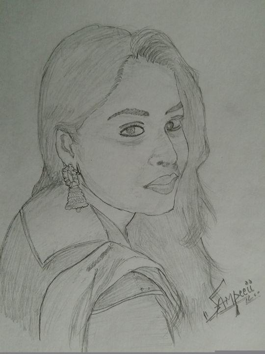 A girl - sketch