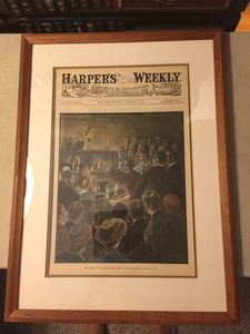 Harpers Weekly Framed Art