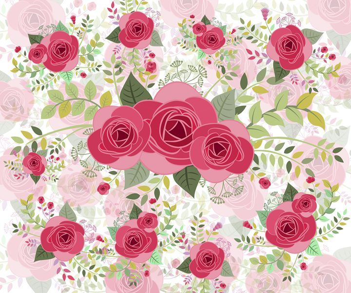 pattern with roses - 1