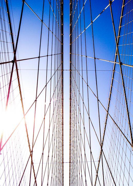 Brooklyn Bridge Sky Light - Dmitry Grab's Photography