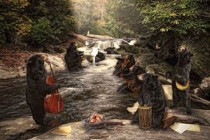 """River Bear Jam"" - Michael's Renderings"