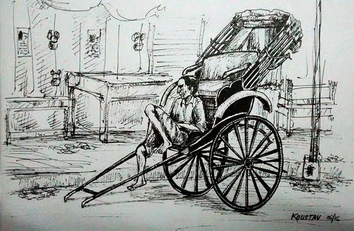 Rickshaw Puller - koustav