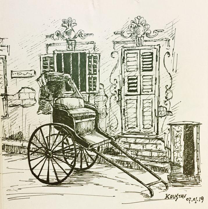 Hand pulled rickshaw - koustav