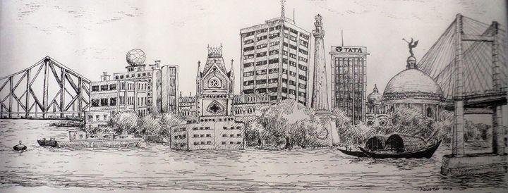 Kolkata skyline - koustav