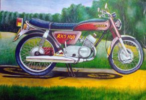 Yamaha Motor Cycle (Drawing) - John-Baroque