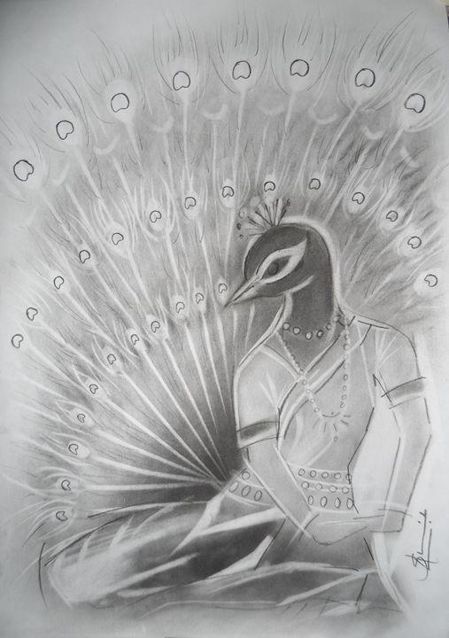 Peacock dance in Odissi form 3 - AashishArt