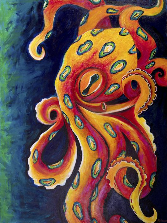 Blue Ring Octopus - J. Stoner Studio
