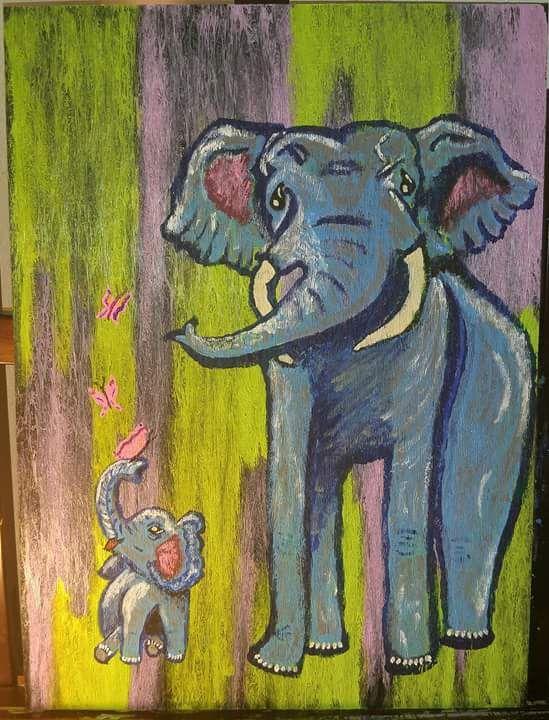 """FLUTTERBY LUCKY ELEPHANTS"" - KayAnn's Cradle"