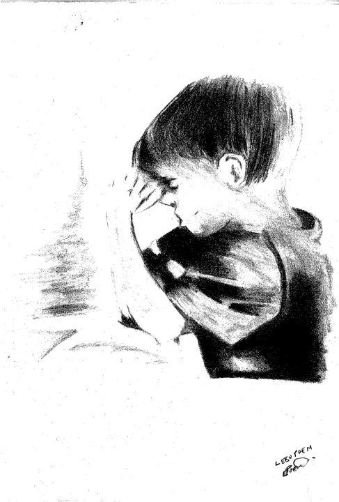 A Praying Boy - ellpoen