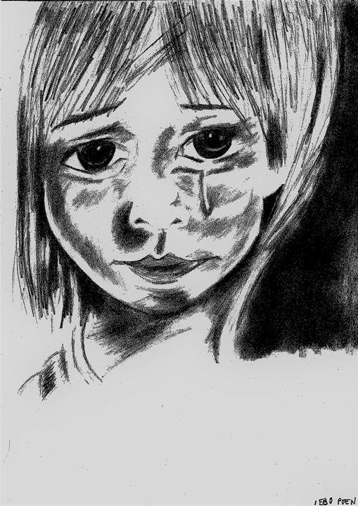 Big eyed girl - ellpoen