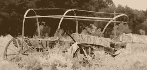 Old wagon on the old west