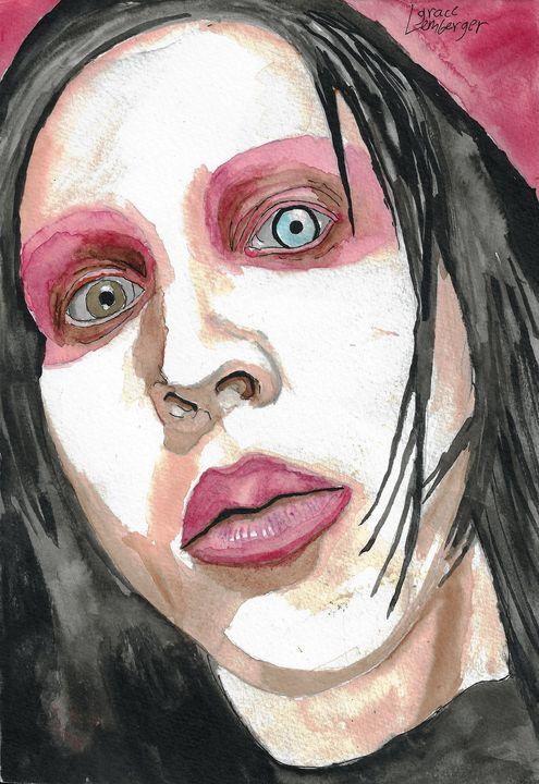 Marilyn Manson FanArt - Grace Lemberger Art