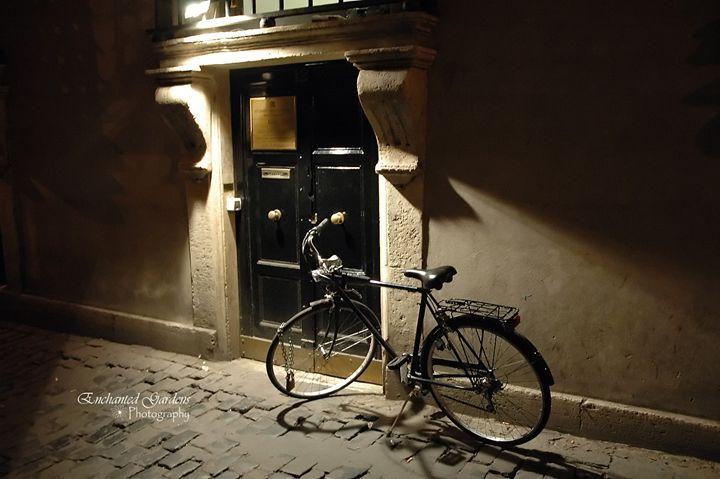 Black Italian Bike by Black Door - Enchanted Gardens Photography