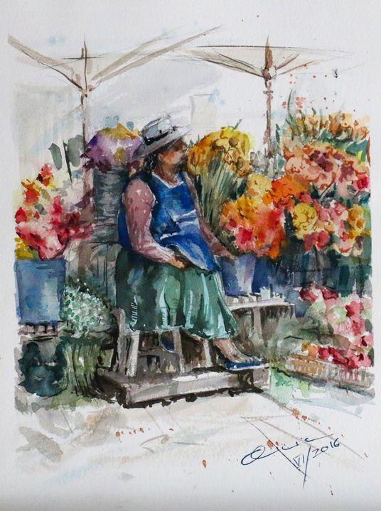 La vendedora de flores - Alicia Prado