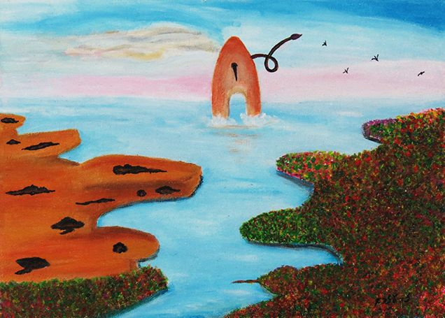 Paintbrush island - Ezra Zaarur