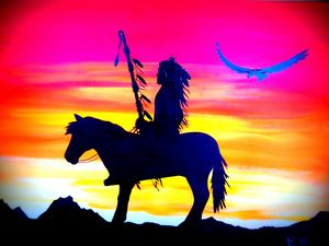 Warrior at Sunset by Kelly Roote