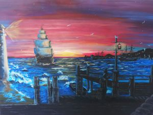 Sailing into port, by Kelly Roote