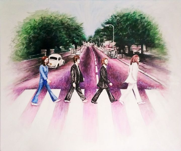 The Beatles crossing Abbey Road - Cheryl Rourke
