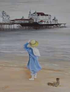 Girl on Brighton beach