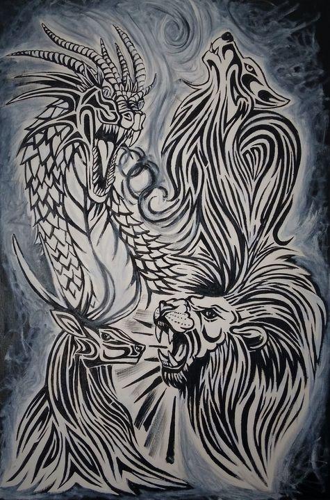 Dragon, Wolf, Lion & Stag - Cheryl Rourke