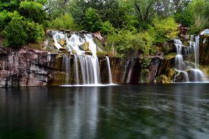 Still Cascading Waterfall