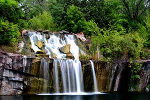Cascading Granite Waterfall